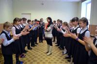 Студенты на встрече со школьниками