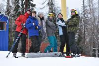 Студенты на лыжной базе